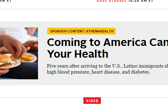 The yellow tag above the headline identifies this content as native advertising.